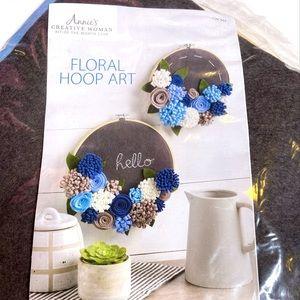 Annie's Creative Woman Floral Hoop Art Kit